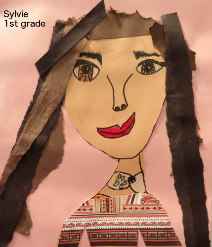 Sylvie, collage portrait 4WS